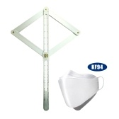 Professional DIY Multi-angle Corner Angle Finder Stainless Steel Protractor Tile Wood Ruler  with 20pcs KF94 Non-woven Fabric Face Mask Triple Filter Mask 94% Filtration Adaptable Nose Bar 3-Layer Protective