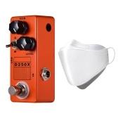 MOSKY D250X Mini Pedal de Efeito de Pré-amplificador de Guitarra Elétrica 2 Modelos Full Metal Shell True Bypass