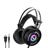 iPega PG-R008 Auriculares para juegos montados en la cabeza Auriculares con sonido envolvente con micrófono incorporado para PC Switch PS4 Xbox One Celular