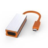 USB Tipo-C para VGA Adaptador USB-C Adaptador USB 3.1 para VGA Conversor macho para fêmea para dispositivos com porta Tipo-c Plug and Play