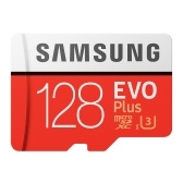 SAMSUNG Carte mémoire 32GB / 64GB / 128GB / 256GB 100MB / S 4K Class10 Cartes Micro SD Red Plus U3 128GB