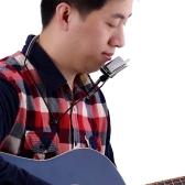 Ammoon H1002 Exquisite Blues Harmonica Standard 10 Fori 20 Tone C Key Armonica a bocca con custodia regalo per professionisti esperti Player + Metal Armonica a bocca per organo Holder Armonica Collo Stand Staffa