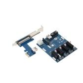 Scheda adattatore PCI-E 1X Scheda convertitore scheda di espansione da PCI-E a 4 porte PCI-E con cavo USB3.0 Cavo di alimentazione per Windows / Mac