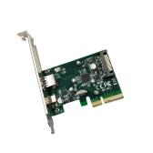 PCI-E para USB3.1 (Tipo A + Tipo C) Cartão de Expansão PCI Express USB3.1 Adaptador do Controlador de Hub Superspeed 10Gbps Interno 15Pin Conector de Alimentação com Chipset Asmedia