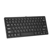RL-K7 Mini przewodowa klawiatura USB 78 klawiszy Mała wodoodporna klawiatura do komputera biurkowego na komputer biurkowy