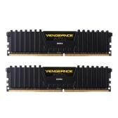 CORSAIR Vengeance LPX 32 GB (2 x 16 GB) DDR4 DRAM 2400 MHz C16 1.2 V (PC4-19200) Kit de Memória de 288 Pinos CMK32GX4M2A2400C16 para AMD Ryzen (Preto)