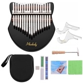 Muslady Cute Fox-shaped 17-Key Kalimba Thumb Piano Acrylic Material
