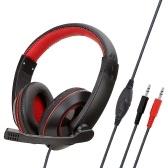 SY722MV para jogos com fone de ouvido ajustável leve fone de ouvido para PC / MAC / CD / GRAVAÇÃO / JOGO