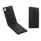 GK228 BT Wireless Keyboard 66 Keys Folding Mini Portable Office Keyboard with Stand for Phone/Tablet/Laptop Black