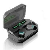 M8 Wireless BT Earphone со светодиодным дисплеем мощности Мини-дизайн Водонепроницаемая гарнитура для наушников для спорта / автомобиля Android / IOS Черный