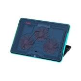 AJAZZ ANC160 Laptop Cooler Supporto di raffreddamento per laptop con effetto luce RGB 7 marce regolabile in altezza Dissipazione del calore muto Nero