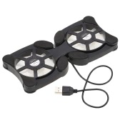 "Mini portáteis Folding dobrável Dual USB Fan Cooler Pad Cooling para PC portátil Notebook 7 ""~ 15"""