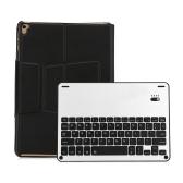 XD-105L Tablety Bluetooth Klawiatura bezprzewodowa Klawiatura 64-klawiszowa Klawiatura ze skórzanym etui dla systemu IOS Czarny