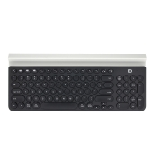 FD Portable Wireless Bluetooth Keyboard with Mobile Phone Holder for Tablet Smart Phone Computer Light Green