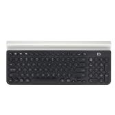 FD Przenośna bezprzewodowa klawiatura Bluetooth z uchwytem na telefon komórkowy do tabletu Smart Phone Computer Light Green