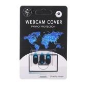 3 STÜCKE Webcam Abdeckung Shutter Privacy Protector Kunststoffschieber Kamera Abdeckung Datenschutz Aufkleber für Webcam iPad iPhone Mac PC Laptops Handy Ellipse (Schwarz)