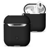 TPU Silicone Fone de Ouvido Capa Protetora para Airpods À Prova de Choque À Prova D 'Água Protetor para Apple AirPods AirPod Acessórios Fosco Superfície (Preto)