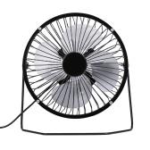オフィスや家庭用のUSBミニファンデスクトップクーラーファン静かなファンメタルファン(ブラック)