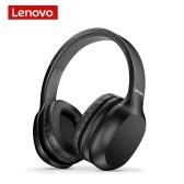 Lenovo HD100 Wireless BT Headset BT5.0 Casque stéréo anti-bruit pour casque de jeu pour téléphone portable PC Portable Noir