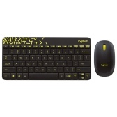 Logitech MK240 Nano Wireless Keyboard and Mouse Combo for Desktop Laptop Computer Home Office Using (Black)