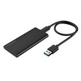 Type-C to mSATA SSD Enclosure Portable mSATA Solid State Drive Box High Speed USB3.1 mSATA   SSD Enclosure Black