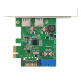 SuperSpeed ​​2-Port USB 3.0 PCI-E PCI Express 19-pinowe złącze USB3.0 15-pinowe złącze SATA Low Profile