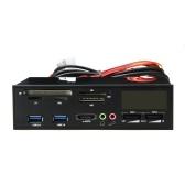 """5.25 """"USB 3.0 e-SATA PC tout-en-1 multimédia Tableau de bord multifonctionnel Ports de lecteur de cartes du panneau avant multifonctions"""