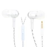 Głośniki słuchawkowe FOSON 3.5mm w izolacji akustycznej w słuchawkach Metalowe słuchawki z mikrofonem dla telefonu iPhone Samsung Smartphone Notebook MP3 / 4