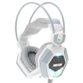 Xiberia ajustável sobre orelha USB & 3.5mm Aux Esport jogo jogos fone de ouvido fones de ouvido fone de ouvido baixo baixo estéreo com Mic baixo baixo luz de LED colorida com fio para PC Laptop computador Tablet Notebook