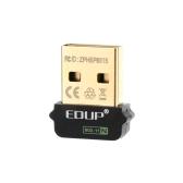 EDUP 2.4GHz 150Mbps 150m WiFi sem fio Nano Mini USB cartão adaptador de rede IEEE 802.11b/g/n