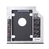 "Capa de 9,5 mm Universal Caddy disco rígido 2 SSD SATA 2,5"" HDD Enclosure para portátil CD/DVD-ROM"