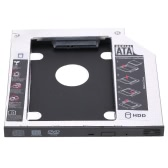 "9.5mm Universal 2nd Hard Disk Drive Caddy SATA 2.5"" HDD SSD Case Enclosure for Laptop CD/DVD-ROM"