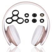 Docooler JH-812 Casque stéréo Bluetooth Sans fil Bluetooth 4.1 Casque 3.5mm Lecteur MP3 Carte TF Radio FM Mains libres Black + DIY Tri Fidget Spinner