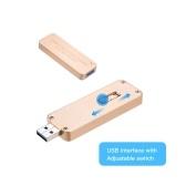 NGFF / M.2 SSD a USB 3.0 Tipo A Unidad de disco duro retráctil Caja de receptáculo externo portátil