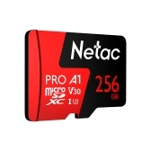 Netac 256GB Pro Micro SDXC TF Memory Card Data Storage V30/UHS-I U3 High Speed Up to 100MB/s