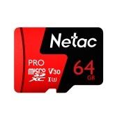 Netac P500 PRO Classe 10 64 GB Micro SDXC TF Cartão de Memória de Armazenamento De Dados de Alta Velocidade 98 MB / s V30 / UHS-I U3