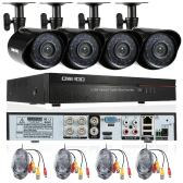 OWSOO 4CH Kanal Full 960H / D1 800TVL CCTV Überwachung DVR Sicherheitssystem