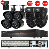 OWSOO 16CH Full CIF 800TVL CCTV Surveillance DVR Security System