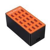 100-watowa, 20-portowa ładowarka USB do ściany Adapter Smart Charging Station