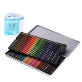72 Premium Pre-Sharpened Color Water Barwniki ołowiane wodą Zestaw z automatycznym ołówkiem elektrycznym Szczotka Szczotka Metalowa obudowa