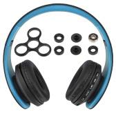 Andoer Bluetooth Casque sans fil Bluetooth stéréo Bluetooth 4.1 Casque 3.5mm Écouteur filaire Lecteur MP3 Carte TF Radio FM Mains libres Gold + DIY Tri Fidget Spinner