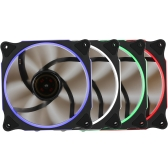 Segotep 120mm Silent Computer Case Cooler Colling Fan LED Lights High Airflow 3P + D