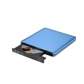 Unidade de interface portátil USB3.0 Super Slim Disco de gravação de DVD externo RW / CD Rewriter CD Burner Disco Blu-Ray para transferência de dados de alta velocidade