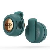 aigo AGF-03 Mini ventilador sin aspas Ventilador silencioso de tipo clip portátil con ajuste de viento de 3 velocidades Ajuste de dirección del viento de 360 ° Verde