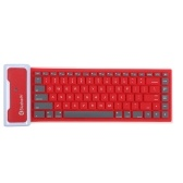 85 chaves ultra fino BT Mini teclado Dustproof dobrável e portátil à prova d
