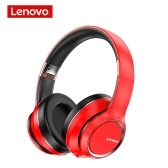 Lenovo HD200 Wireless BT Headset BT5.0 Noise-cancelling Stereo Headset Foldable Headphoe for Cellphone PC Laptop Red