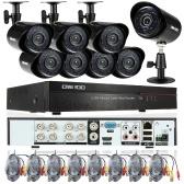 OWSOO 8CH completa 960H / D1 800TVL CCTV Vigilância DVR Sistema de Segurança