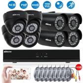 KKmoon® 8CH Channel Full 960H/D1 800TVL CCTV Surveillance DVR Security System