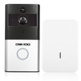1 * OWSOO 720P WiFi Telefone de porta de intercomunicação visual + 1 * campainha de campainha sem fio