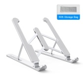 Tabletop Foldable Laptop Stand 7 Levels Adjustable Laptop Riser Universal Aluminum Alloy Portable Ventilated Cooling Laptop Stand